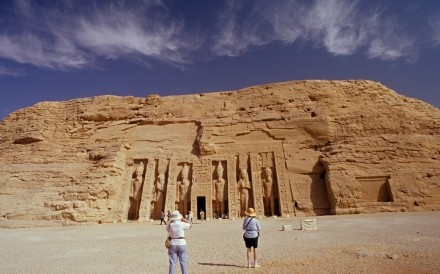 British Tourists Abu Simbel